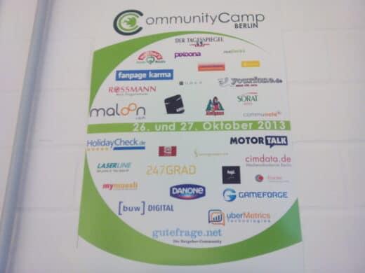 Sponsoren des Communitycamps 2013 - Danke!