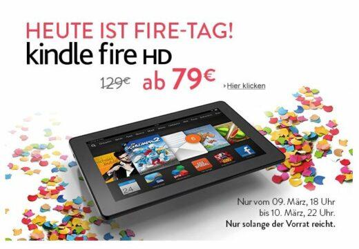 Screenshot von der Amazon Website zur ktion mit den Kindle Fire HD Tablets