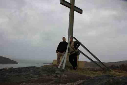 Stefan und ich beim Cross über Morar