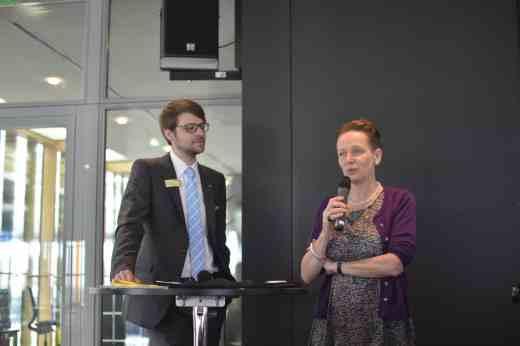 Andreas Wallbillich (Messe Stuttgart) und Dr. Ursula Hudson (Slow Food Deutschland e.V.)