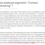 Content Marketing / Definition Bedeutung