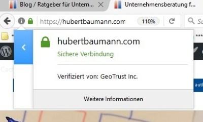 https SSL Verschlüsselung Zertifikat