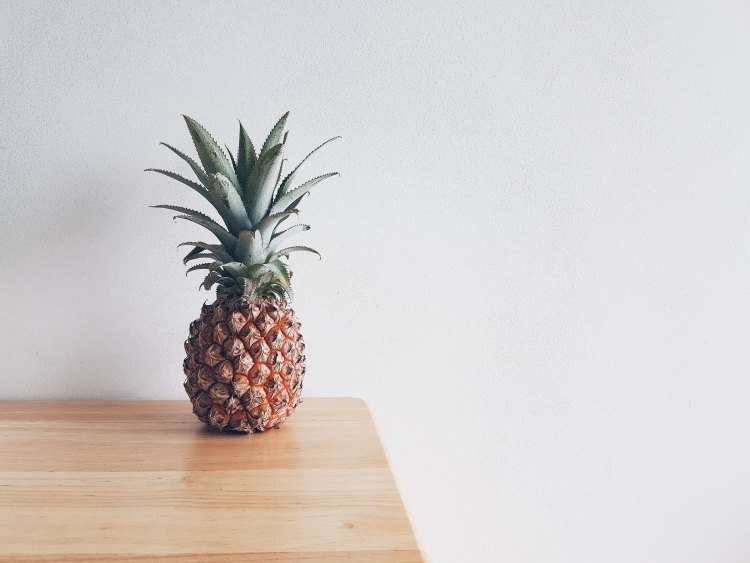 there is a pineapple on the table