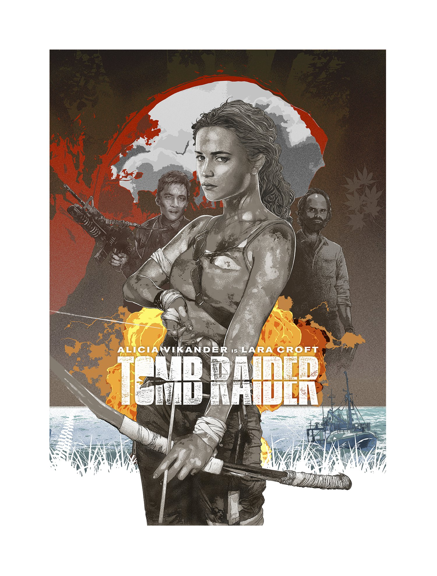 Hubert Fine Art Tomb Raider 2018 Alternative Movie Poster