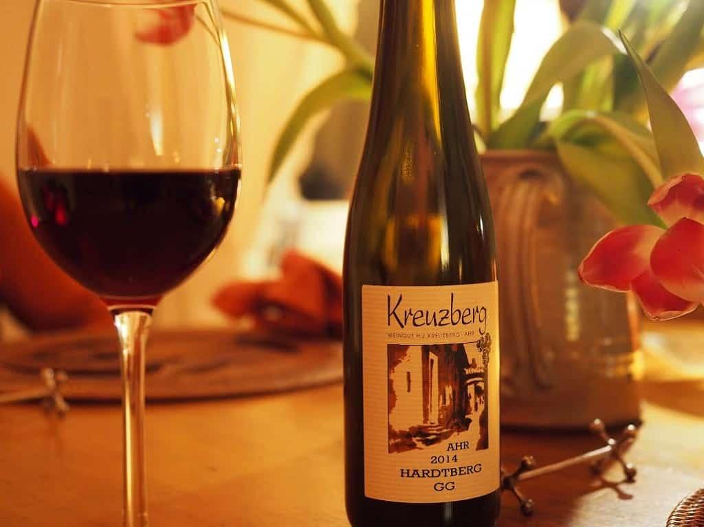 wijn de ahr aan tafel