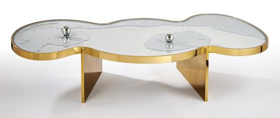 Table Frissons dorée 01