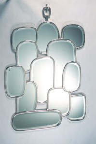 Miroir domino nickel