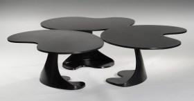 Table Nénuphar Patinée Noire
