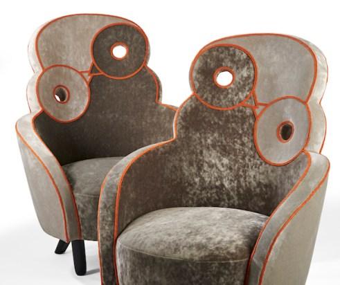 fauteuils maxou gris broderie orange 04