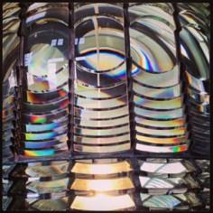Old lighthouse lens