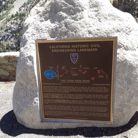 Tioga Pass Road - a piece of monumental architecture.