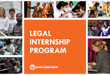 Photo of The World Bank Legal Vice Presidency's (LEG VPU) Internship Program Spring 2022 for highly-motivated law students
