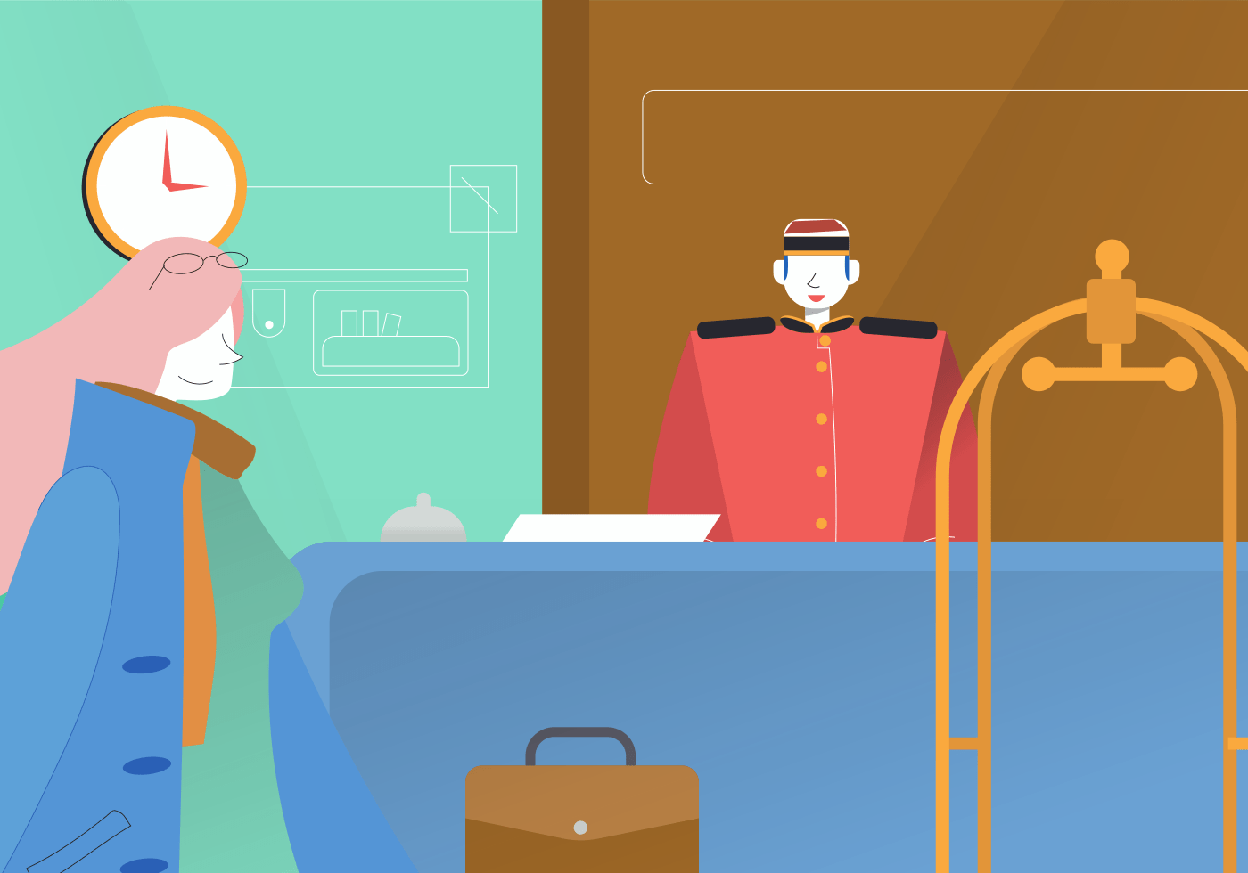 Guest vs. Staff experience hub OS
