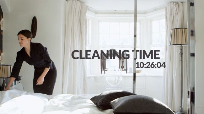 Housekeeping cleaning times