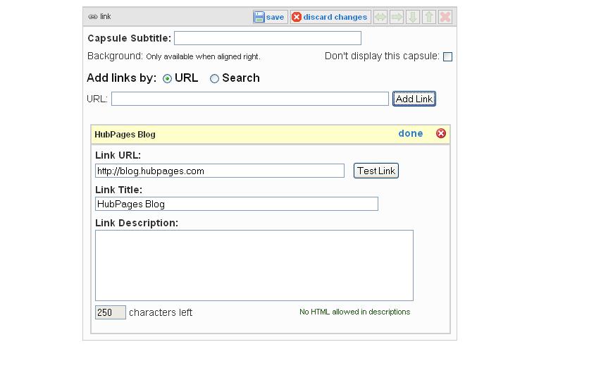 Link Capsule Example: Edit Link
