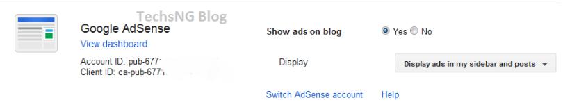 Add Google Adsense to blogger blog