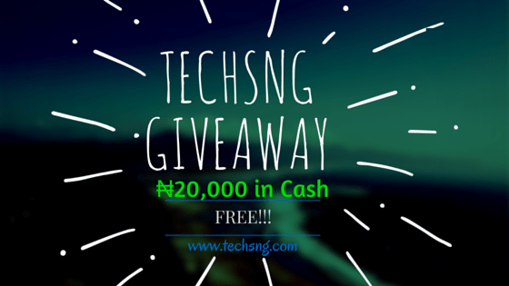 TechsNG gives away N20000 in cash