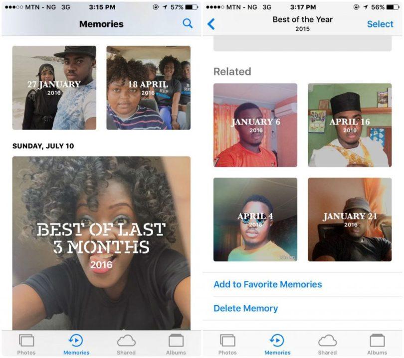 new photo layout on iOS 10