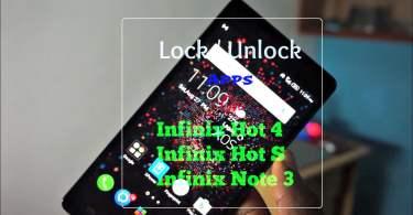 lock unlock apps on infinix hot s