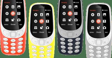 Nokia 3310 color variants