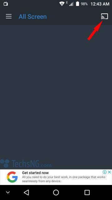 Select cast to xiaomi mi android tv box icon