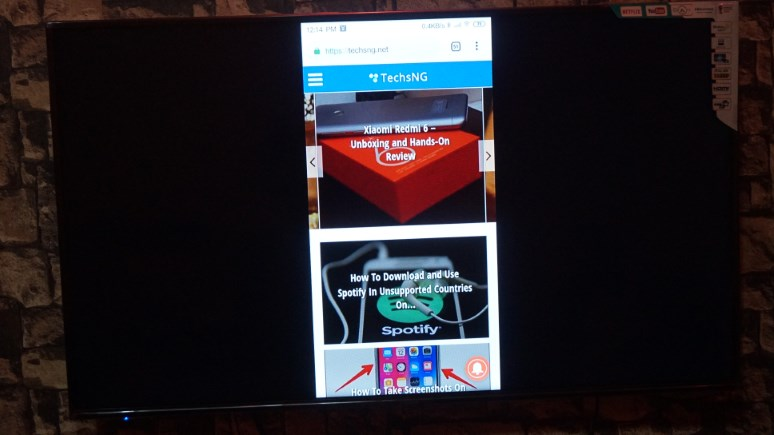 Cast android phone screen to Hisense smart TV