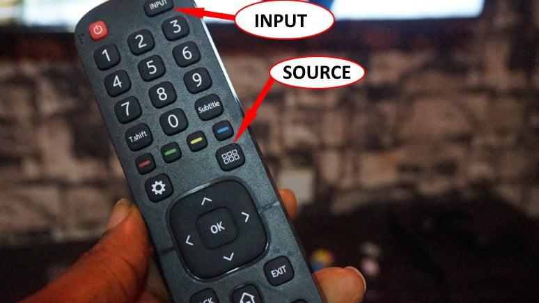 HiSense smart TV remote