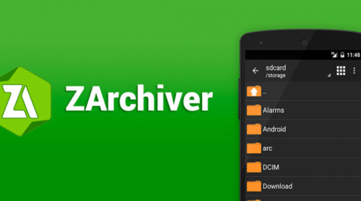 Install ZArchiver to your Android