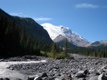 view from White River Campground