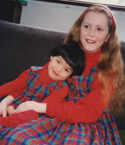 Big sister Kira and Raina