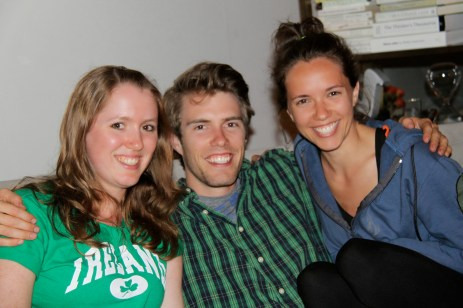 with cousins Jed and Katina