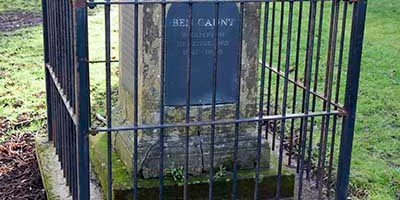 Ben Caunt's grave