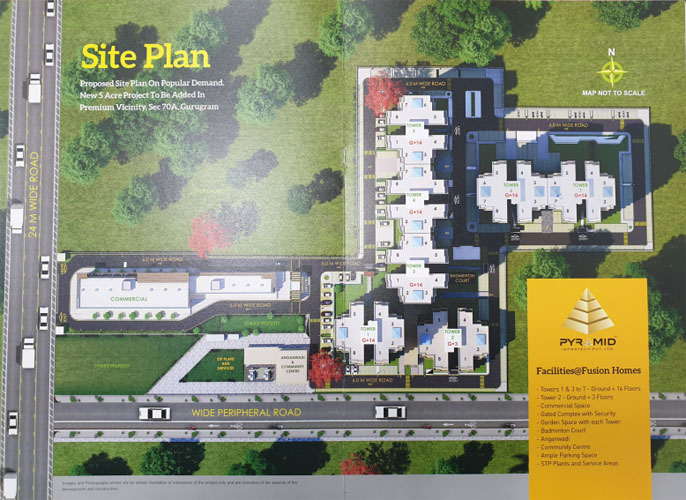 site-plan-Pyramid-Fusion-Homes-Sector-70A
