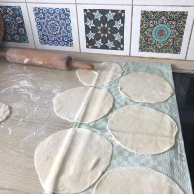 Rezept für Arabisches Fladenbrot - syrisches Brot
