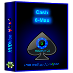 HUDblue CS, 6-Max Cash HUD packaging.
