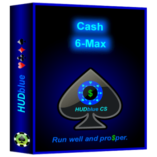HUDblue CScaHUDblue CS, 6-Max, Cash, HUD box illustration.