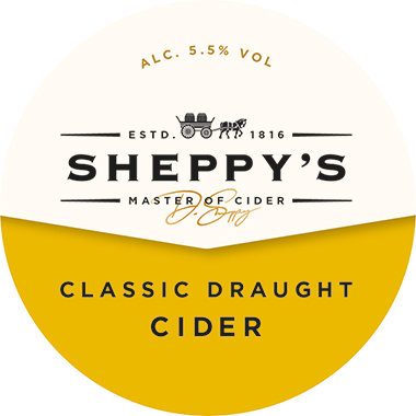 Sheppy's CLASSIC DRAUGHT Medium Cider 5.5% 20l PolyKEG