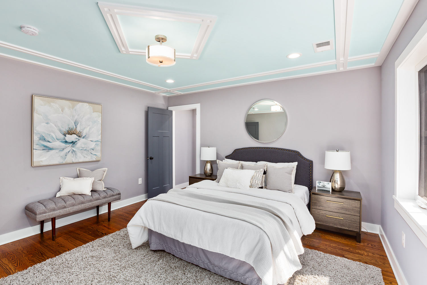 real estate photography NJ, bedroom picture