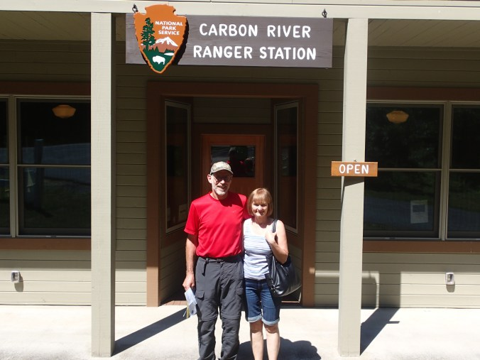 Mom And Dad At The Carbon River Ranger Station