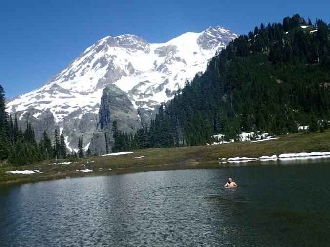 Swimming in Aurora Lake