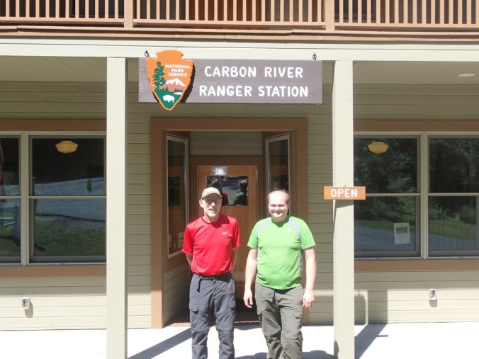Picking Up Our Permit At The Carbon River Ranger Station