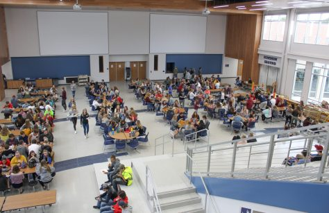 The high school forum during lunch hour.