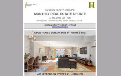 Hudson Realty Group Update – April 2016 Edition  |  Hoboken and Jersey City Real Estate
