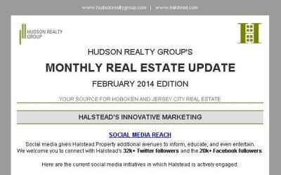 Hudson Realty Group Monthly Update – February 2014 Edition     Hoboken and Jersey City Real Estate