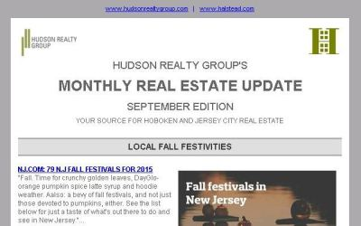 Hudson Realty Group Update – September 2015 Edition  |  Hoboken and Jersey City Real Estate