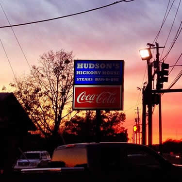 Picture of Hudson's Hickory House BBQ sign