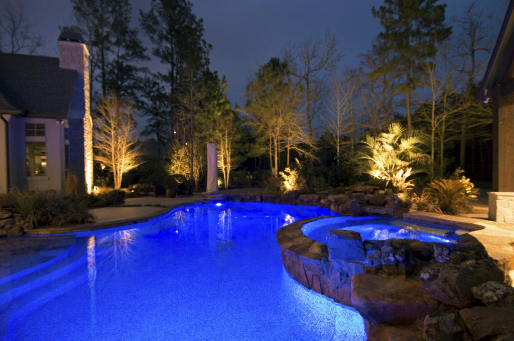 landscape lighting swimming pool remote