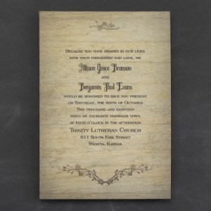 Rustic Charm - Invitation