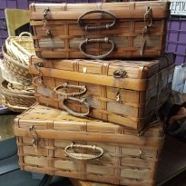 Wicker Picnic Cases, small, medium and large