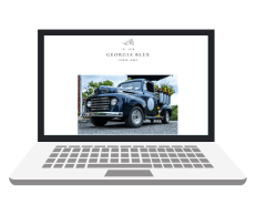 georgia blue flower truck custom web design